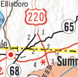 I Segment - Us 220 map