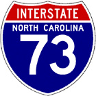 Interstate 73 North Carolina shield image, from Shields Up!