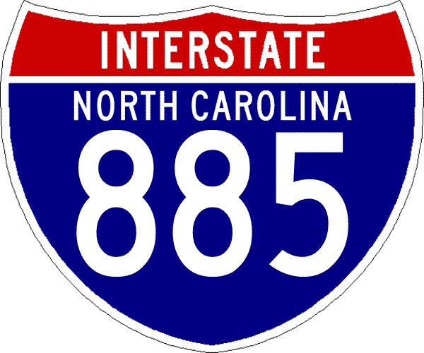 Interstate 885 NC shield from Shields Up!
