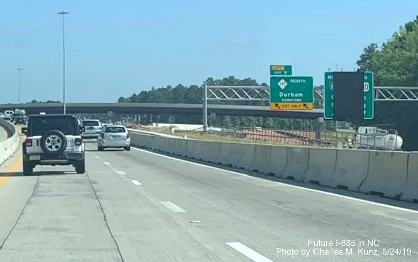 Future I-885 / Durham East End Connector