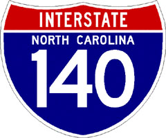 I 140 wilmington bypass image of nc interstate 140 shield from shields up sciox Gallery