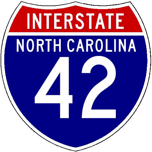 North carolinas new and future interstates i 42 north carolina shield image from shields up sciox Gallery