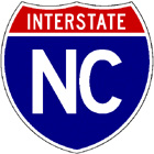 Interstate shield with NC image